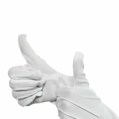 2Pcs Santa Mens Inspection White Formal Gloves Tuxedo  Honor Color Guard Parade