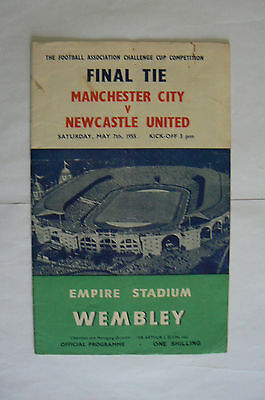 1955 Manchester City V Newcastle Fa Cup Final Programme