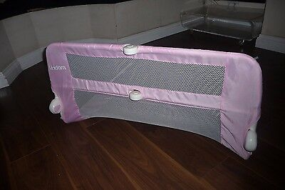 Lindam Easy Fit Pink Foldable Bed Guard