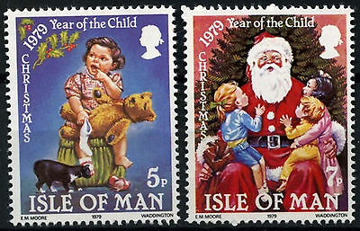 Isle Of Man 1979 SG#163-4 Christmas Year Of The Child MNH Set #D51257