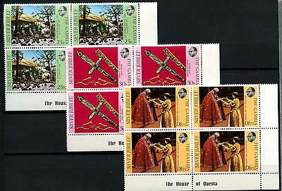 The Gambia 1977 Silver Jubilee MNH Corner Blocks Set #D51324