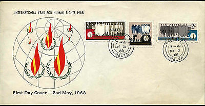 Malta 1968 Human Rights FDC First Day Cover #C42657