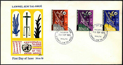 Malta 1975 United Nations Anniv FDC First Day Cover #C42646