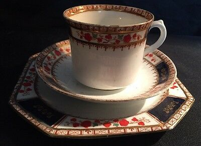 Royal Stafford hand painted cup saucer side plate trio