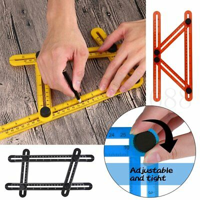 Four-Sided Ruler Angle-izer Measuring Instrument Template Tool Mechanism AU