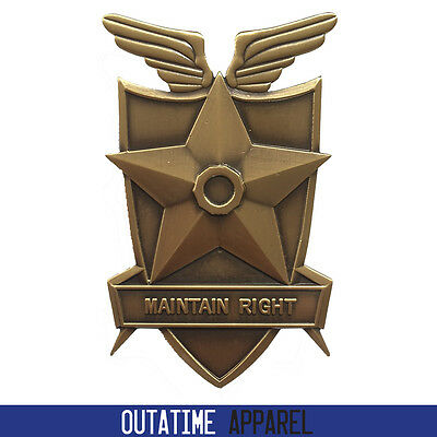 Brand New Metal Full Size Mad Max Movie Prop Cosplay Badge / LAPD / NYPD / CHP.