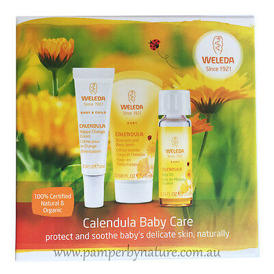Weleda Calendula Baby Care Starter Pack - 3 x trial size