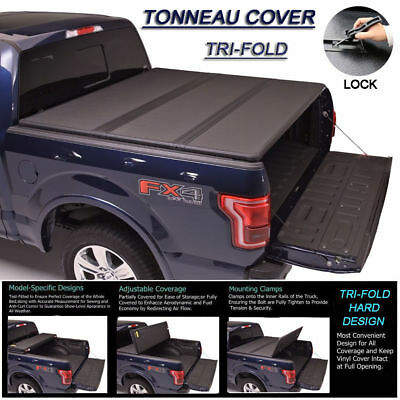 "Fit 2007-2017 TOYOTA TUNDRA Lock Hard Solid Tri-Fold Tonneau Cover 6.5ft 78"" Bed"