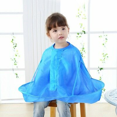 New Style Kids Children Waterproof Haircut Catcher Apron Capes Hairdresser Gifts
