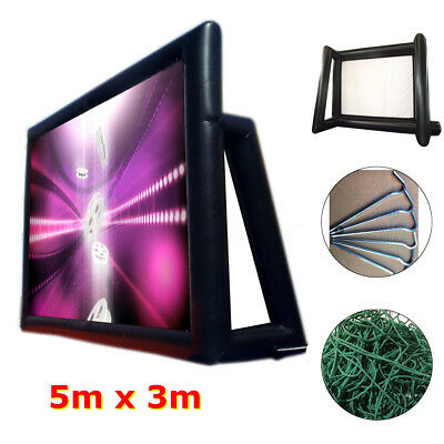 5m x3m Movie Screen Inflatable Giant Outdoor Projector Cinema Theatre Backyard