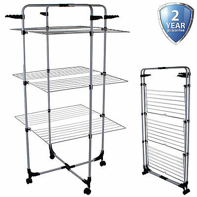 25M Tower Clothes Airer Hanging Laundry Clothing Washing Dryer Folding Indoor