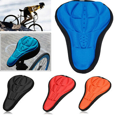 3D GEL Soft Bicycle Saddle Cycling Comfort Seat Cushion Cover For MTB Road Bike