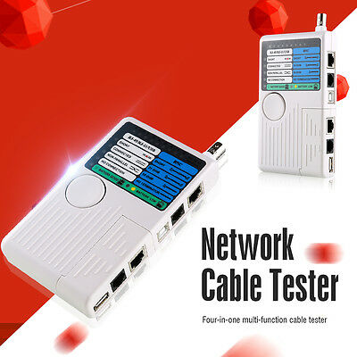 4 in 1 Network Cable Tester RJ45/RJ11/USB/BNC LAN Cable Cat5 Cat6 Wire BI204 UK