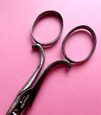 "Antique Scrolled Handle Sewing Scissors.""best Sheffield """