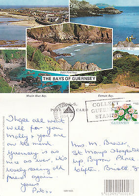 1994 Multi Views Of The Bays Of Guernsey Channel Islands Colour Postcard