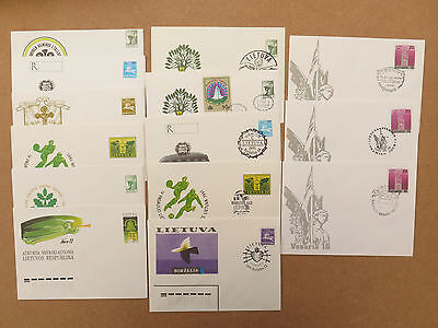 Lithuania: postal stationery (14 items) 1990s