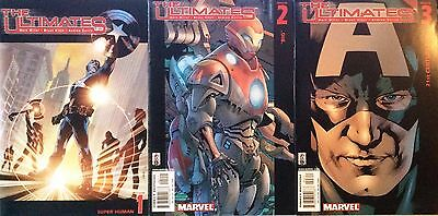 Marvel Comics ULTIMATES Issues 1 2 3 Mark Millar Bryan Hitch Andrew Currie