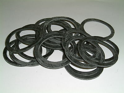 10 Rubber Washers 45mm O/D X 38mm I/D  X 2mm Thk