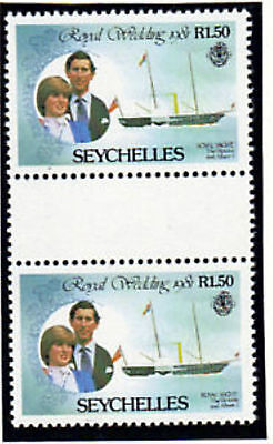Seychelles 1981 Royal Wedding R1.50 Gutter Pairs Ex Booklet Mnh