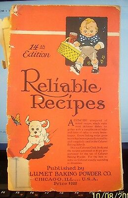 14th Edition Of Reliable Recipes From The Calumet Baking Powder Company