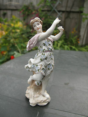 ANTIQUE 19th VOLKSTEDT PORCELAIN FACTORY - TRIEBNER, ENS & ECKER GERMAN FIGURINE