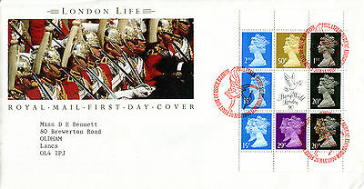 20 March 1990 London Life Booklet Pane Royal Mail First Day Cover Bureau Shs