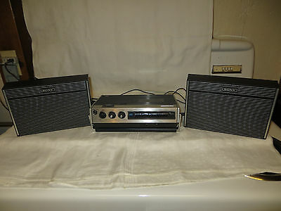 Vintage Sony Stereo Cassette Corder TC-126 - Recorder Player, 2 Speakers & Case