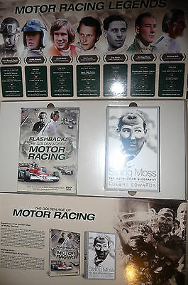 Motor Racing, The Golden Age Of     Stirling Moss,fangio,,exclusive Dvd And Book