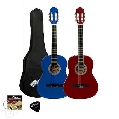 Tiger Childrens 3/4 Size Classical Guitar Package – Red & Blue