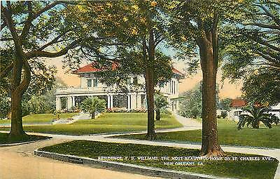 Louisiana, LA, New Orleans, Williams Residence, St Charles Ave 1910's Postcard