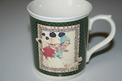 Lucie Attwell Memories of Yesterday Enesco Coffee Cup Mug 1990 All the best EUC