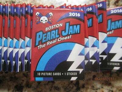 10 Packs Pearl Jam Aug 5th 7th 2016 Fenway Boston Trading Cards Pack SEALED
