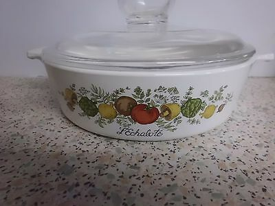 """Pyroflam  L'Echalote """"Spice of Life"""" Casserole Dish With Glass Lid   Holland."""