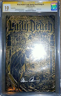 Lady Death: Dead Rising CGC 10.0 Signature Series, Leather Cover, HIGHEST