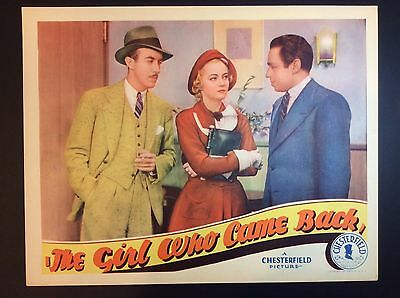 """SUSAN LEWIS 11 x 14 """"THE GIRL WHO CAME BACK"""" 1935 THEATER FILM PROMO LOBBY CARD"""