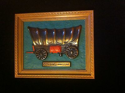 Unique Vintage Style Covered Wagon Wall Plaque