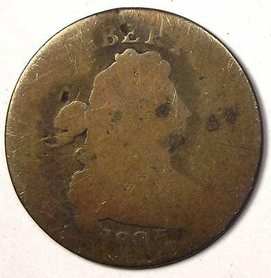 1805 Draped Bust Dime 10C - Fair Details - Scarce Early Date (Raw Coin)
