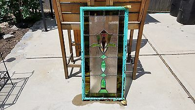Antique Vintage Stained Glass Leaded Steel Casement Window English Tudor Style