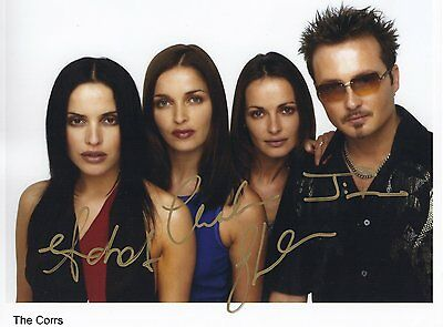 "The Corrs FULLY Signed Autographed 8x10"" Photo"