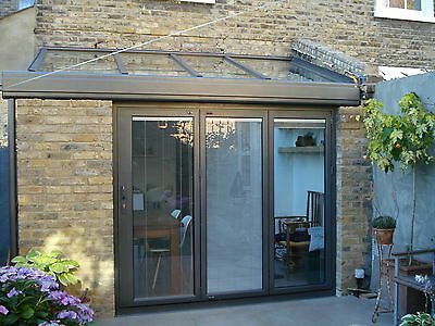 New, Quality Aluminuim Bi Fold Doors Inc integrated blinds 3 panels. Look At FB
