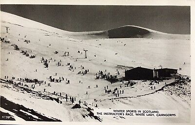THE INSTRUCTORS RACE, WHITE LADY, SKIING, CAIRNGORMS - RPPC JB White of Dundee