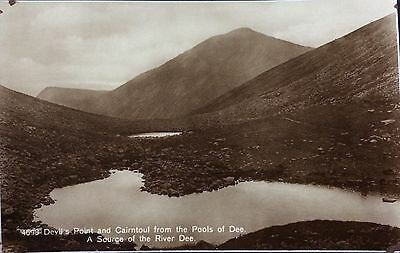 DEVILS POINT from the POOLS of DEE, CAIRNGORMS - RPPC JB White of Dundee
