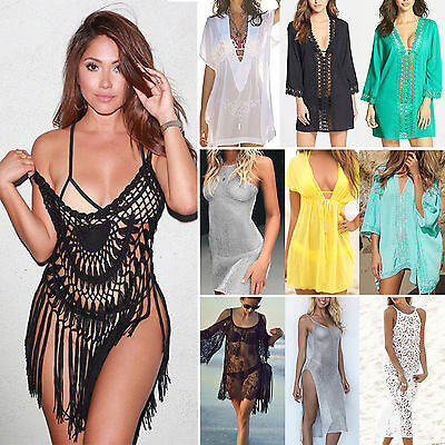 Women Bikini Cover Up Swimwear Swimsuit Bathing Suit Summer Beach Dress US Stock