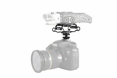 Movo SMM5 Microphone Shockmount for Zoom H4n/H5/H6, Tascam DR-40/DR-05 Recorders