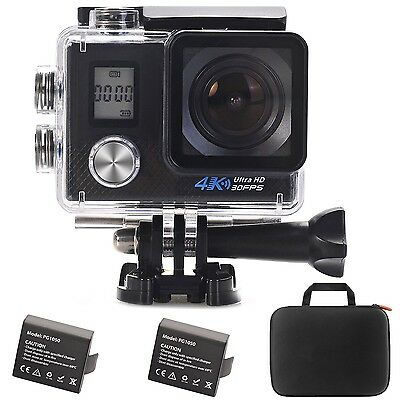 Aokon New 4K WIFI Slow Motion Sports Action Camera 2.0 LCD Ultra HD 16MP 170 ...