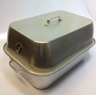 Vtg WEAR-EVER 2625 Large Aluminum Turkey Roaster Roasting Pan