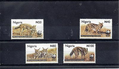 NIGERIA 2003 WORLD WILDLIFE FUND SG 809 to 812 MNH - JACKALS