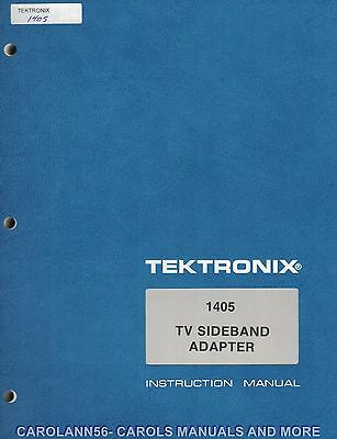 TEKTRONIX Manual 1405 TV SIDEBAND ADAPTER