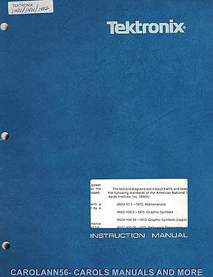 TEKTRONIX Manual 1420 NTSC 1421 PAL 1422 PAL-M VECTORSCOPE