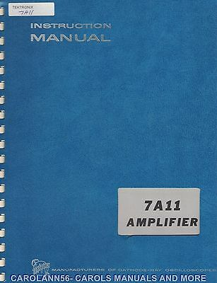 TEKTRONIX Manual 7A11 AMPLIFIER